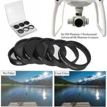 Lentes de cámara UV + CPL + ND4/8/16, filtro protector para DJI Phantom 4/3 Pro Phantom/Advanced RC438 6 uds.(China)