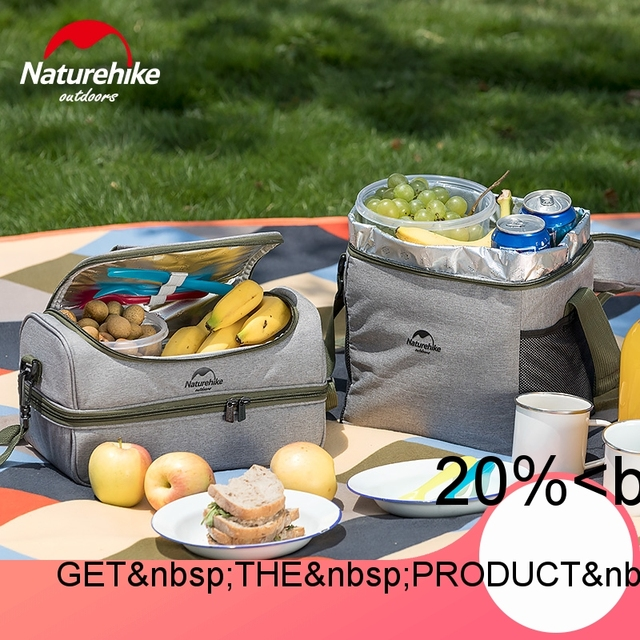 Naturehike Outdoor Camping Picnic Bag Set Portable Container Isotherm Bag With Warm Cold And Fresh Function For Food