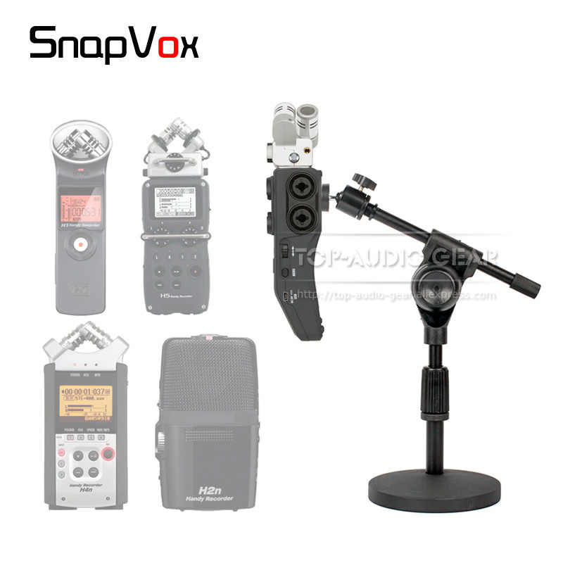 Adjustable Height Round Plate Desktop Microphone Stand Holder Mic Bracket  For ZOOM H6 H1 H1n H4n H2n H5 H 1 5 6 2 4 N Recorder