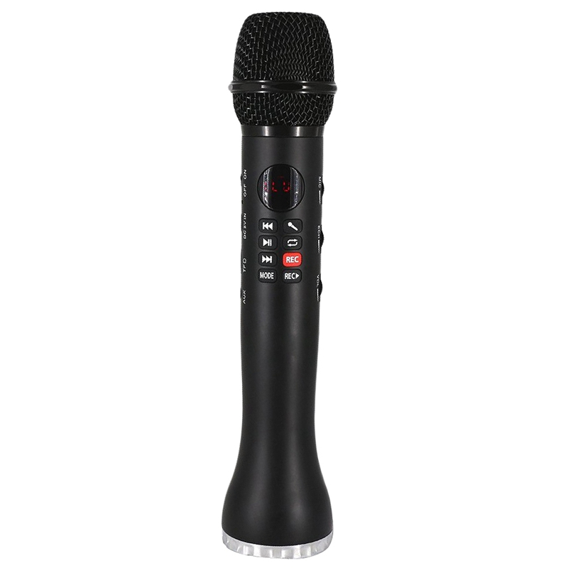 Hot AMS-Professional Karaoke Microphone Wireless Speaker Portable Bluetooth Microphone For Phone Iphone Handheld Condenser Mic