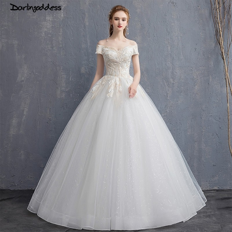 Bridal Gowns With Lace Cap Sleeves: Vestido De Noiva Luxury Bling Bling Ball Gown Wedding