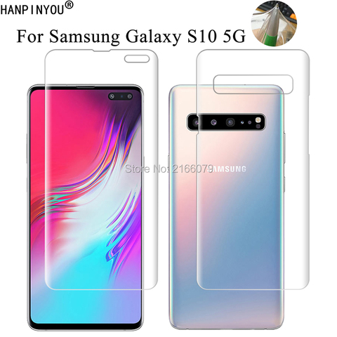 """For Samsung Galaxy S10 5G 6.7"""" Clear TPU / Matte Anti-Fingerprints Hydrogel Full Cover Soft Screen Protector Film (Not Glass) Pakistan"""