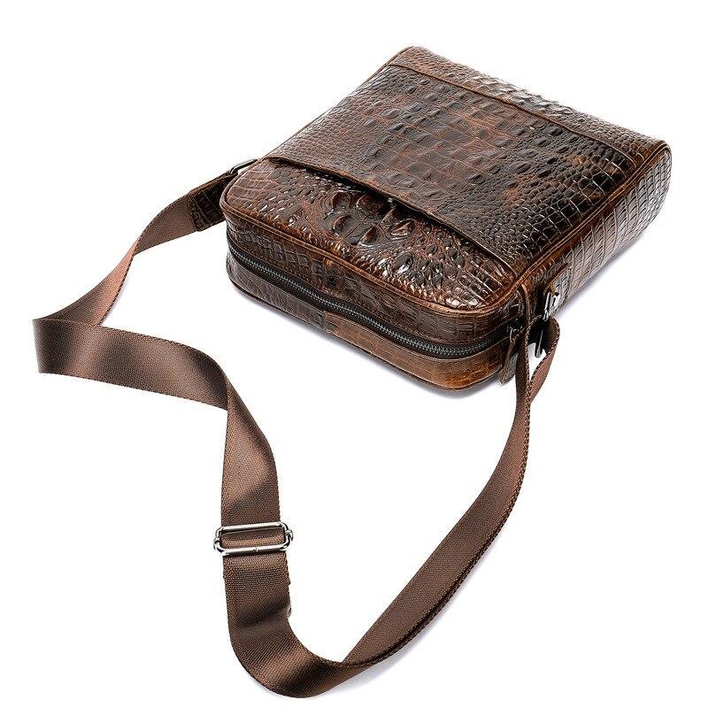 New Fashion Genuine Leather Men Briefcas Crocodile Small Business Bag Briefcase Luxury  Shuolder Bag Crossbody Bag For Mens