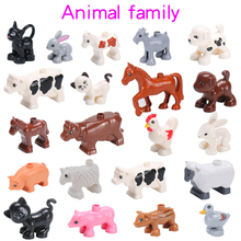 Big Building Blocks Animals Series Model Figures Toys For Kids Children Panda Tiger Horse Rabbit Animal World