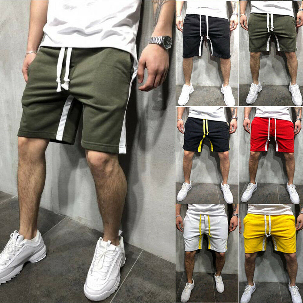 Men Shorts Trousers Joggers Track Pockets Sportwear Harem Plus-Size Casual New Solid