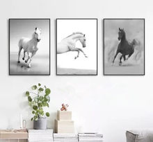 Nordic Modern Simple Oil Painting Horse Running Frameless Decorative Painting Living Room Sofa Background Wall Art Canvas(China)