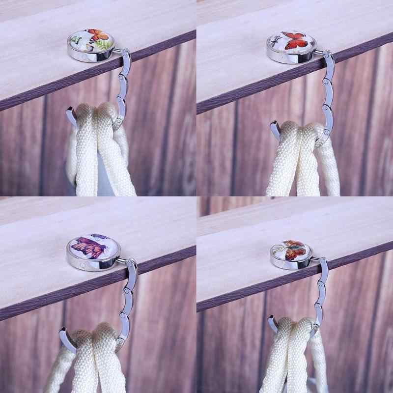 Logam Tas Gantungan Kait Meja Kait Kupu-kupu Meja Gantungan Beberapa Payung Tas Meja Gantungan Tas Dompet Pemegang Kait