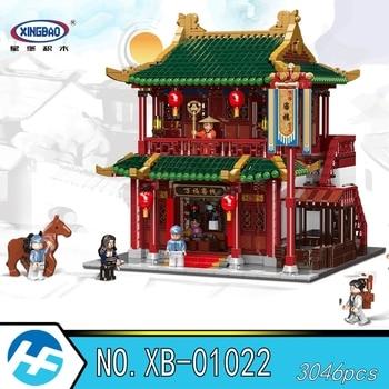 Xingbao XB-01022 WanFu Roadhouse Zhong Hua Street Streetscape series Building Blocks Bricks Compatible legoinset Model toys