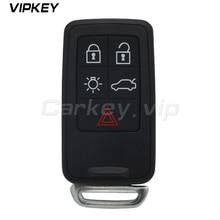kigoauto smart keyless entry emergency key for volvo 5wk49266 xc60 xc70 v70 s80 car key blade uncut replacement Remotekey  Replacement Remote Car Key Fob 433MHz 5 Button for Volvo S60 S80 V70 XC60 XC70 FCC ID: KR55WK49266