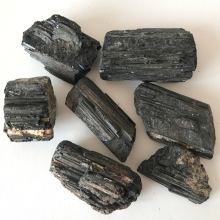 100g natural black tourmaline rough stone unpolished wool ornaments Feng Shui energy