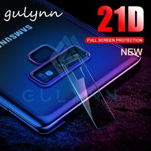 2PC 21D Back Camera Lens Tempered Glass For Samsung Galaxy S8 S9 Plus  Protector Protective Film for J4 J6 J8 J7 A8 2018 Cover