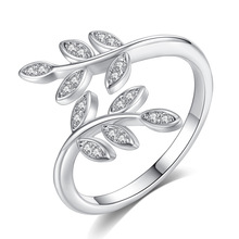 Silikolove 1pcs New Trend Leaves Retro Ladies Ring Personality Versatile Jewelry Olive Branch Female Wedding