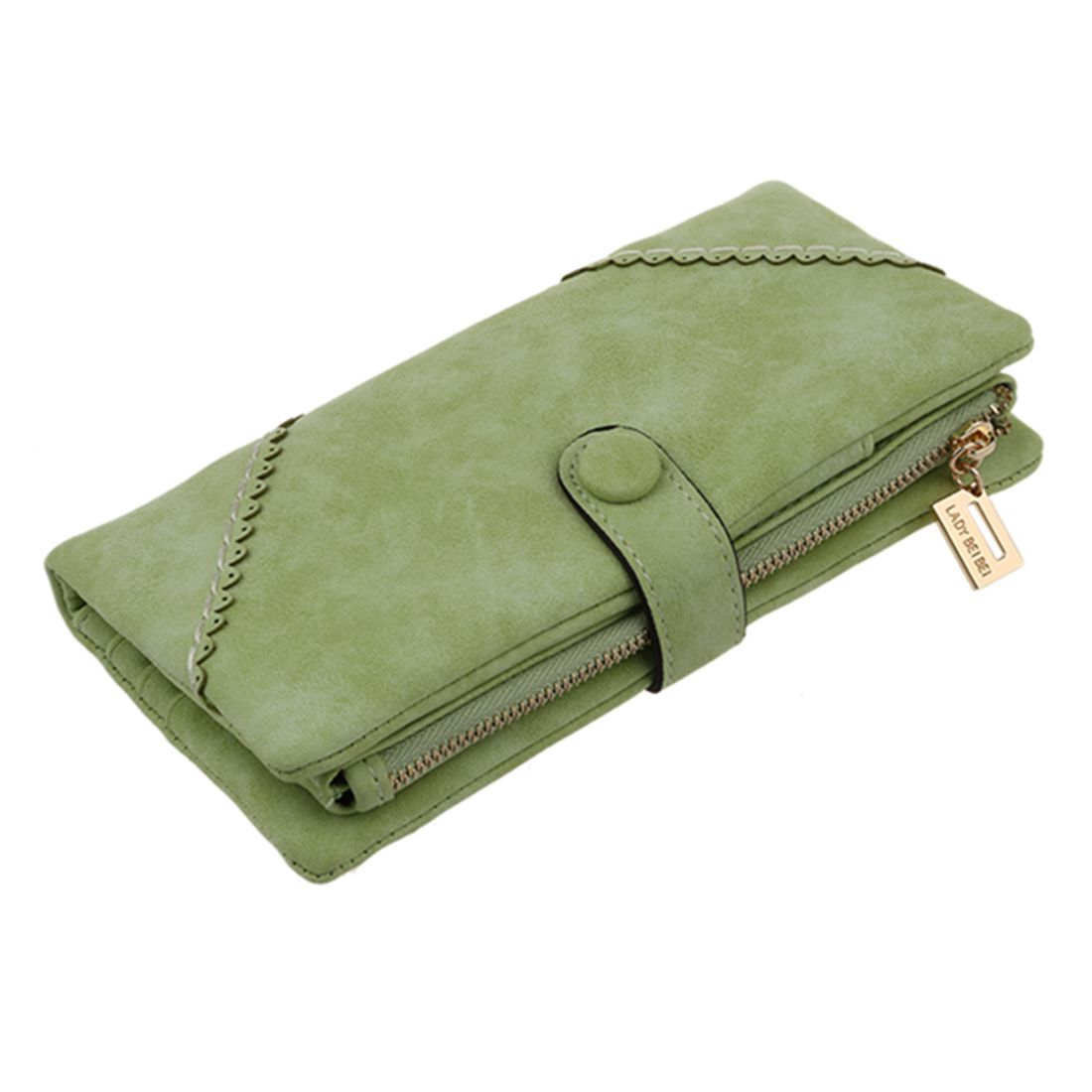 New Long Women Wallet Messenger bags Handbag Retro Dull Polish Purse Multifunctional