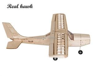 Image 3 - RC เครื่องบินเลเซอร์ตัดไม้ Balsa เครื่องบินชุด Cessna 150 กรอบไม่มีฝาครอบ Wingspan 960mm รุ่นชุด Woodiness รุ่น