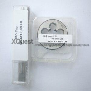 Image 2 - 2PCS Metric Left Hand Tap and die set M14 M14X2 LH Fine Thread Machine taps cutting Round Dies M14X1.5 M14X1.25 M14X1 M14X0.75