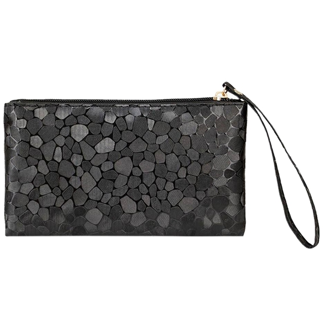 Nuevo señoras embrague monedero bolsa pequeña bolsa con cremallera de metálico