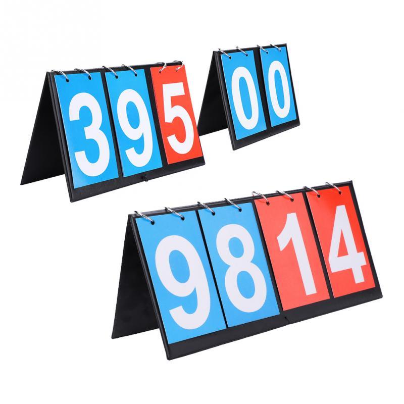 4-Digit Sports Scoreboard Competition Score Board Scoreboard for Table Tennis Basketball Badminton 4 Digit Scoreboard