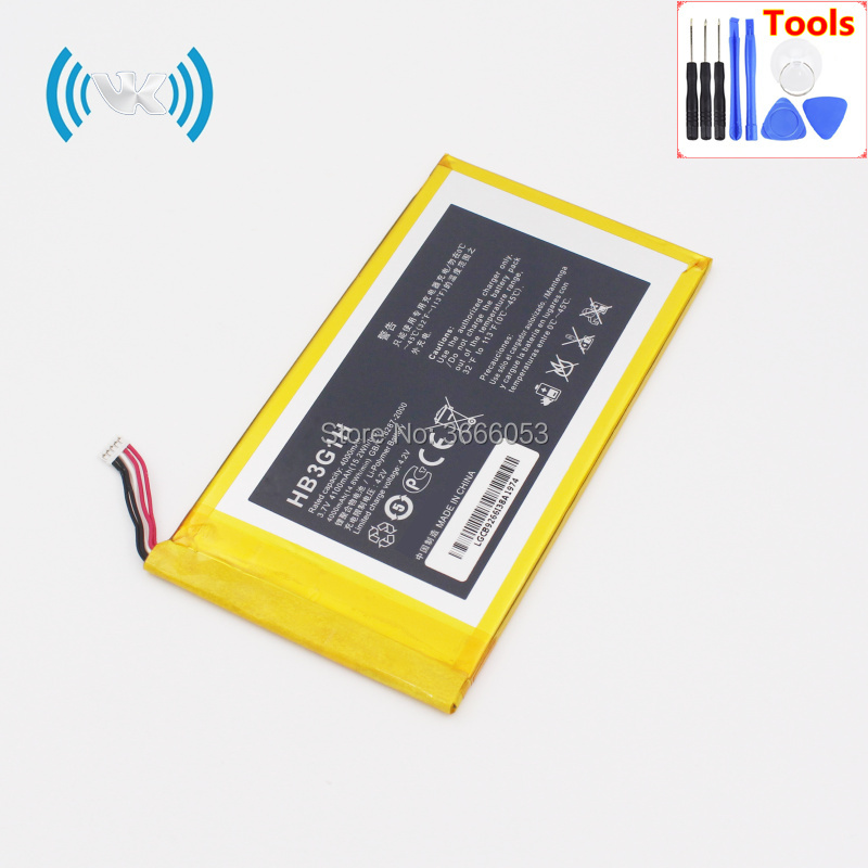 Generous Vk New 4100mah/15.2wh 3.8v Hb3g1 Replacement Battery For Huawei Mediapad S7-301u 301w 302 303 T1-701u Batteries Inbuilt Keep You Fit All The Time Cellphones & Telecommunications