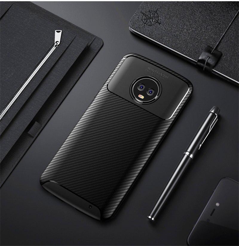 pretty nice de639 1512f US $3.14 10% OFF|Aliexpress.com : Buy For Moto G 6 G6 Plus Carbon Fiber  Case for MotoG6 Case Soft Anti Skid Silicone TPU phone cover for Motorola  Moto ...