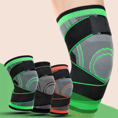 Women Men Unisex Fit Running Jogging Sport 3D Weaving Knee Sleeve Brace Pad Support Protects Compression