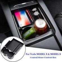 Новый ящик для хранения автомобиля центральный подлокотник для автомобиля консольный лоток Tidying для Tesla модель X модель S аксессуар-контейнер