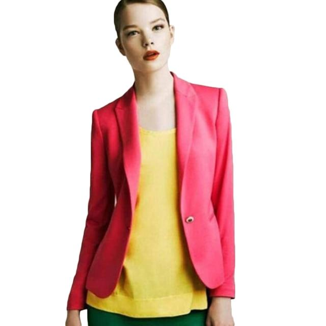 Slim Blazers femmes printemps automne costume veste femme travail bureau dame costume usure noir aucun bouton affaires cranté Blazer manteau