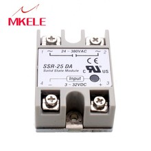 цена на 2015 Hot New Temperature Control AC 24V-380V Output Solid State Relay 25A SSR-25DA
