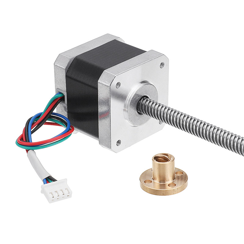 Nema17 42mm 2 Phase 1.8 Degree 1.5A Stepper Motor With T8 380mm Lead Screw for CNC Engraving Machine High QualityNema17 42mm 2 Phase 1.8 Degree 1.5A Stepper Motor With T8 380mm Lead Screw for CNC Engraving Machine High Quality