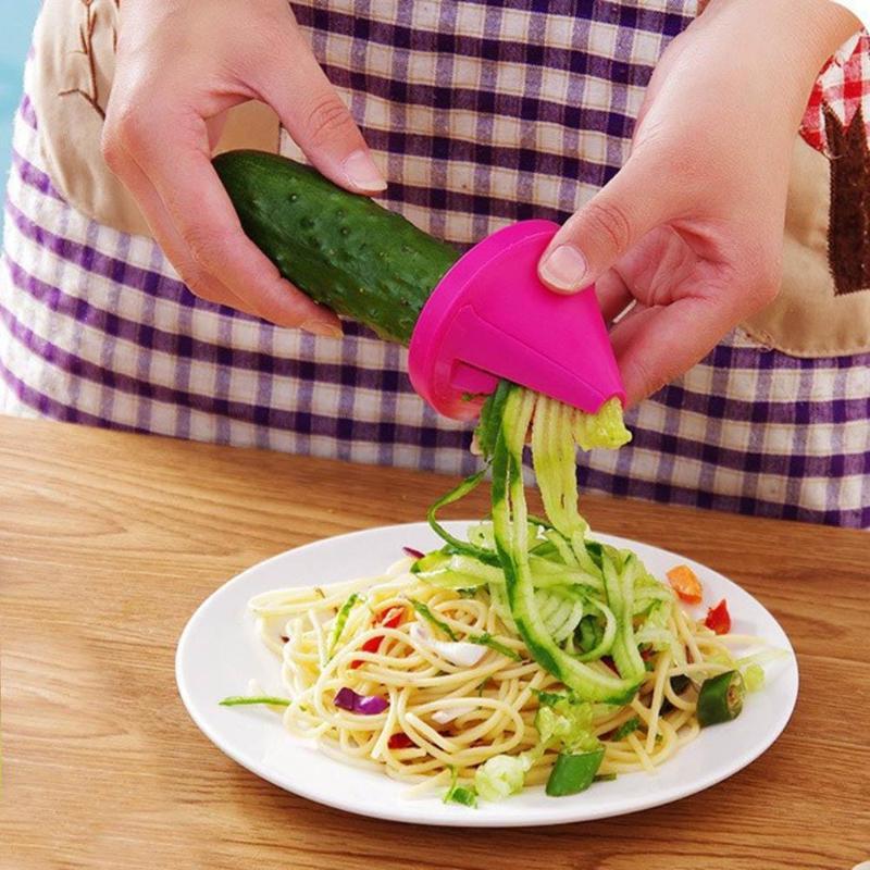Пиральная терка для моркови, огурца, спиральное лезвие, резак для овощей и фруктов спиральная овощерезка, салатные инструменты, лапша из цук...