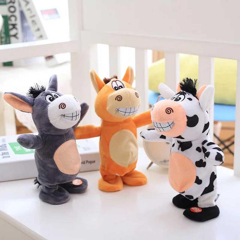 Electric Little Hummer Cartoon Plush Doll Talking Walking Sing Funny Children Early Education Cognitive Educational Toys