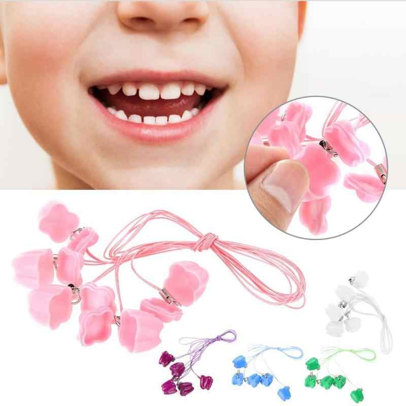 10pcs Plastic Baby Milk Tooth Storage Box with Rope Tooth Saver Organizer with Necklace Case Gift Childhood Memory for Kids