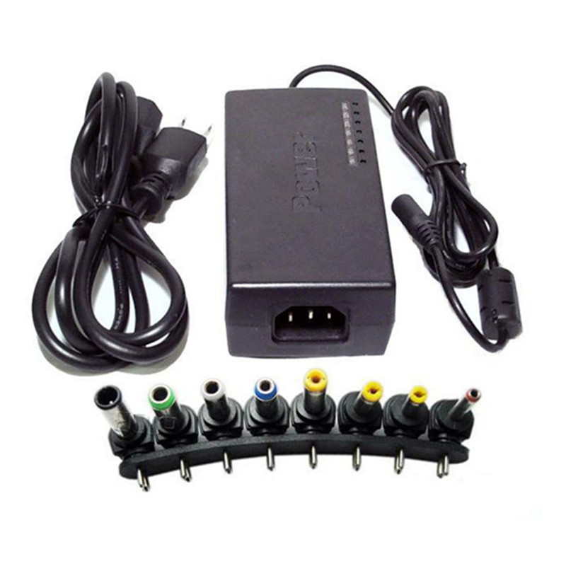 1Pcs Black 12V/ 15V/ <font><b>16V</b></font>/ 18V/ 19V/ 20V/ 24V Output Universal AC <font><b>DC</b></font> Power <font><b>Adapter</b></font> Charger for Home Use High Quality image
