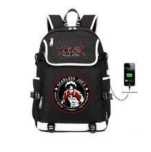Anime MEGALO BOX Backpack USB Charge bag teenager Boys School Bags Men Laptop Backpack JOE JNK DOG Cosplay Student Book Bag недорго, оригинальная цена