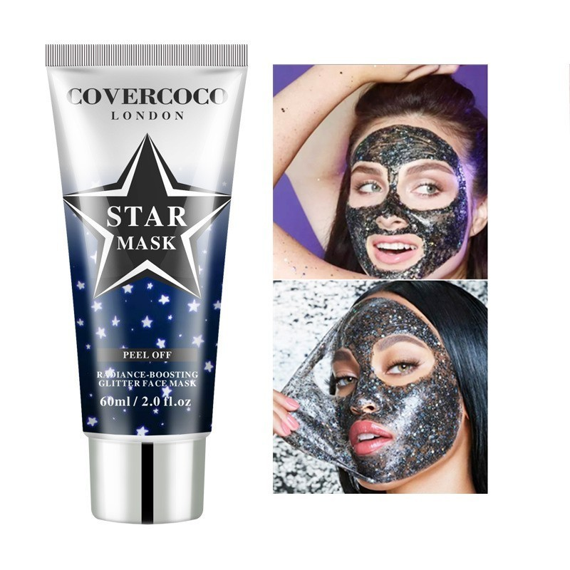 STAR MASK Glitter Peel Off Black Face Mask For Blackhead Remover Korean Facial Face Masks Moisturize Skin Health Care Mask