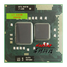 Intel Core i7 640M i7 640M SLBTN 2.8 GHz Dual Core Quad חוט מעבד מעבד 4W 35W שקע G1/rPGA988A