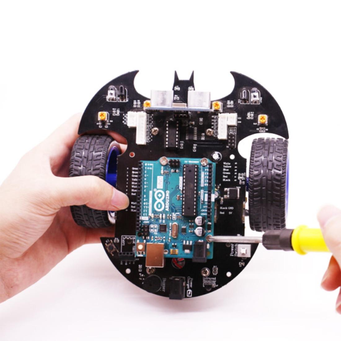 Kit de vapeur modèle de démarreur de voiture Robot intelligent Bat avec tutoriel jouet de tige électronique éducatif pour Arduino comprend carte mère R3 - 6