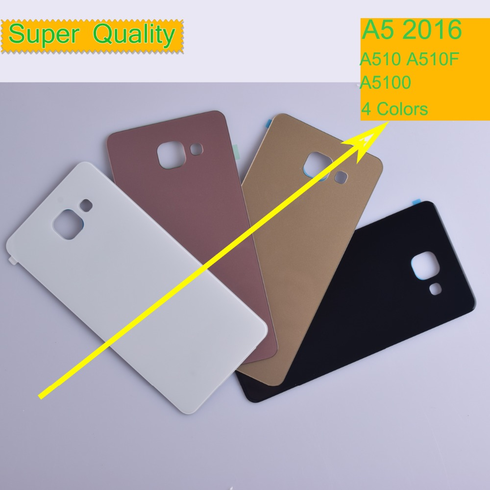 10Pcs/lot For <font><b>Samsung</b></font> Galaxy A5 2016 A510 <font><b>A510F</b></font> A5100 Housing Battery Cover Back Cover Case Rear Door Chassis A5 2016 Shell image