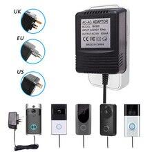 HOA KỲ ANH Phích Cắm EU 18V AC Biến Áp Sạc dành cho Wifi Không Dây Camera Chuông Cửa Điện IP Video Liên Lạc Nội Bộ Nhẫn 110V 240V