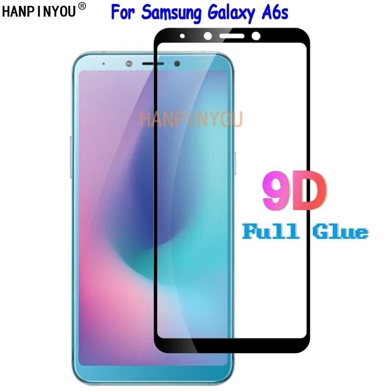 """Для samsung Galaxy A6S A6 S G6200 6,0 """"9D полный клей полное покрытие закаленное Стекло Экран протектор Взрывозащищенный Защитная пленка"""