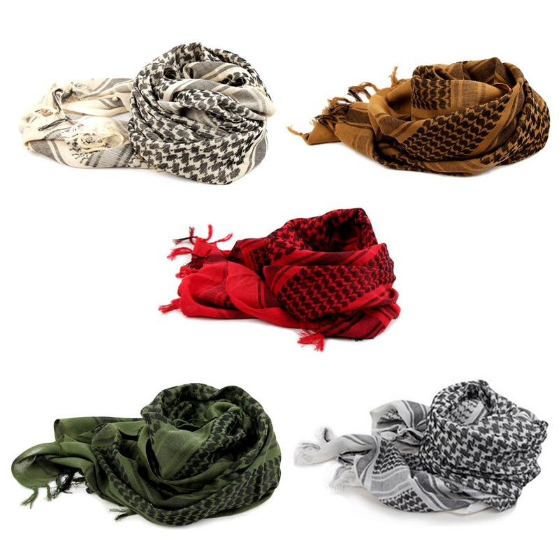 High Quality Outdoor Hiking Scarves Military Arab Tactical Desert Scarf Army Shemagh With Tassel For Men Women Keep Warming