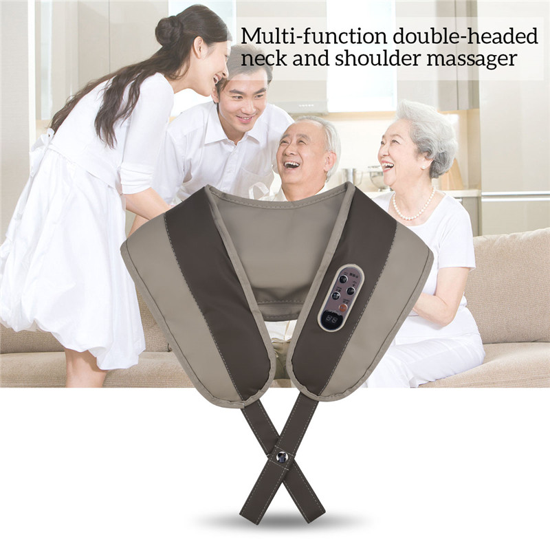 U Shape Electric Back Neck Shoulder Massager 4d Kneading Pillow Body Shoulder Spa Relieve Muscle Pain Home Travel Relax Use