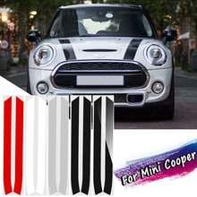 2 шт. капот двигателя полоса отделка наклейки для Mini Cooper S R50 R52 R53 R55 R56 R57
