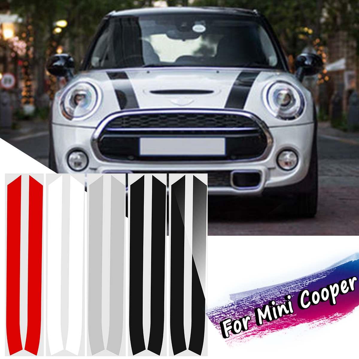2pcs engine bonnet hood stripe trim sticker decals for. Black Bedroom Furniture Sets. Home Design Ideas