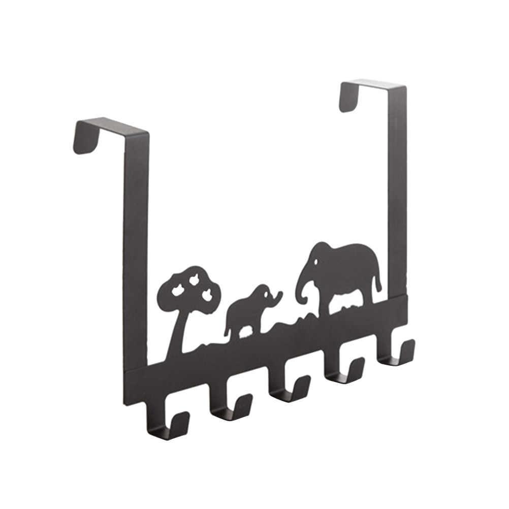 Над дверью Крючки стойки 5 Крючки стальные вешалки многократного использования Висячие для ящик для буфета шкаф для ванной комнаты офиса