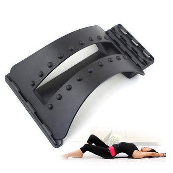 Cervical Back Stretcher Massage Equipment Body Pain Relief Magic Support Massager Muscle Stimulator Relaxation Fitness Tool byriver tourmaline tourmanium ceramic round neck cervical support pillow collar massager negative ion relief muscle tension