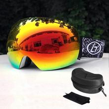 Polarized Ski Snowboard Snowmobile Goggles Case Skiing Snow