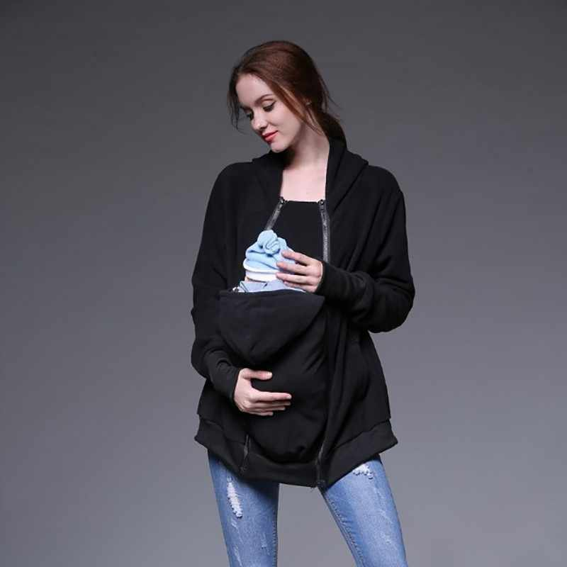 Plus Size Multifunctional Maternity Kangaroo Coat Women Clothes 2018 Winter Warm Pregnancy Jacket Baby Carrier Pregnant Hoodies