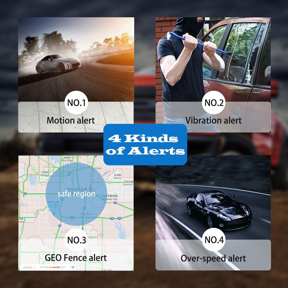 TKstar 2G 3G 4G GPS Tracker Tk905G surveillance vocale moniteur Audio Bug aimant étanche geo-clôture logiciel de suivi gratuit APP - 5