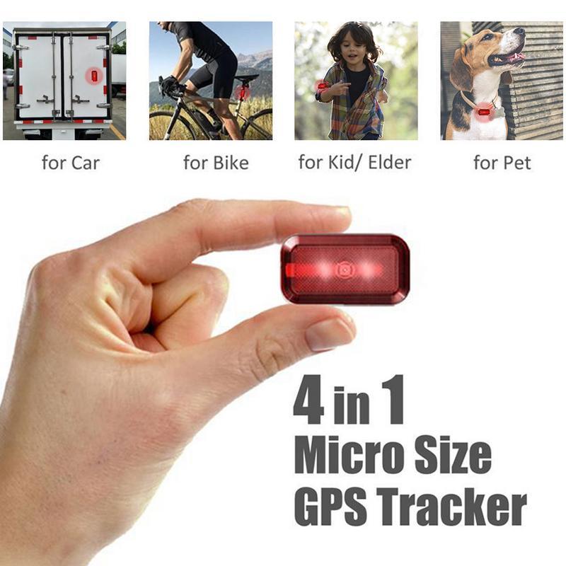 Localisateur de suivi GPS en plastique professionnel pour chien enfants animaux de compagnie moto enfants vélos localisateur de suivi étanche en veille 7 jours