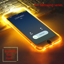 XINDIMAN 2019 LED flash case for samsung S7 S7edge S8 S8plus incoming call TPU fundas for samsung J3 J5 J7 2017 Note8 note9 case(China)